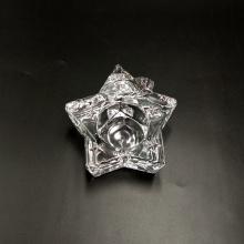 Portavelas de cristal en forma de estrella para Navidad
