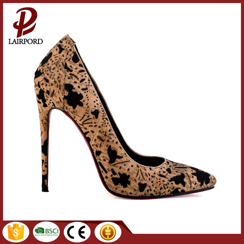 11cm high thin heel fashionable women shoes