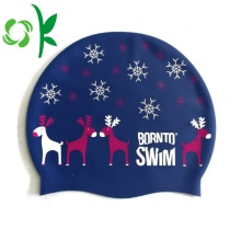 Silicona nadada personalizada logotipo impreso gorra deporte acuático
