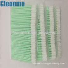 Excellent quality PP Handle 100% polyester cleanroom swab PS766 for static sensitive components/parts