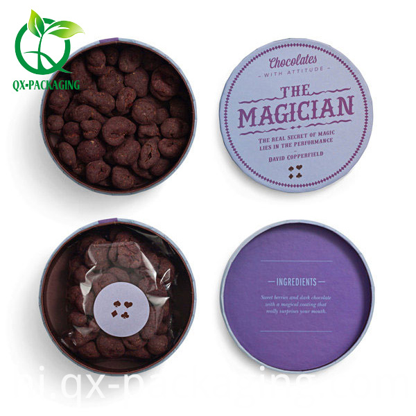 Round Packaging Box For Chocolate