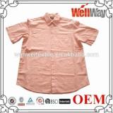 Korean cotton linen blend fabric dress shirt