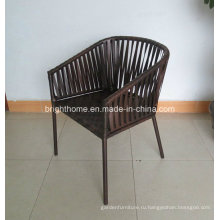 Wicker Патио Ротанг ткачество Открытый Обеденный стул