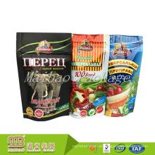 Wiederverschließbares Lebensmittelverpackungs-Gewohnheits-Druckplastikzipverschluss-Aluminiumfolie-Tasche mit Riss-Kerbe