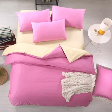 Comfortable Microfibre  Polyester Solid  Bedding Quilt Cover Set