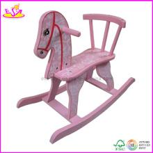 2015 nouveau cheval à bascule d'enfants, jouet en bois populaire de poussée d'enfants (W16D016)