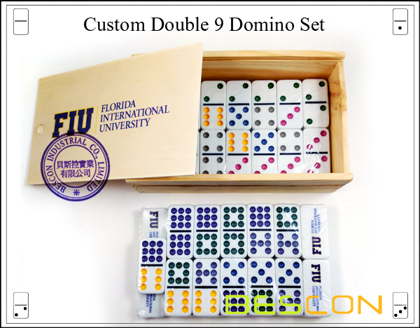 Custom Double 9 Domino Set-5