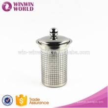 New Items 2016 Promotional Christmas Gift Novelty Rhombic Diamond-Shape Stainless Steel Tea Filter/Strainer/Infuser With Lid