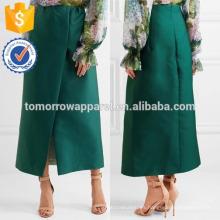 Nueva Moda Verde Satén Midi Lápiz Falda DEM / DOM Fabricación Al Por Mayor Moda Mujeres Ropa (TA5183S)