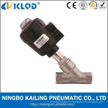 Válvula de asiento de ángulo KLQD marca hilo neumática para agua aire