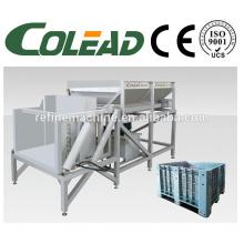 Hydraulic pressure reversal discharging machine