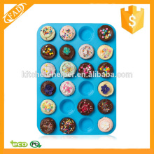 Easy to Store 24 Cup Silicone Mini Muffin Pan