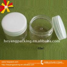 Emballage en crème cosmétiques en PET 30ml / jar en gros