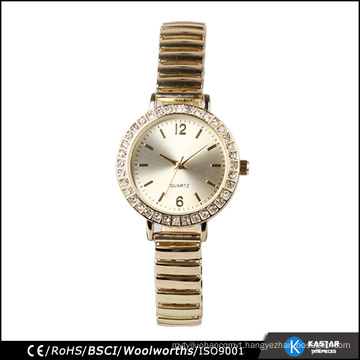 lady watch gold diamond watch alloy material