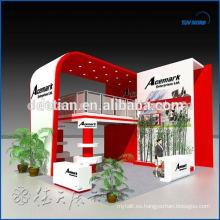 Conozca los requisitos de seguridad de EE. UU. Cabina de dos pisos, cabina de exhibición de dos niveles, fácil instalación de material de cabina de doble cubierta
