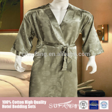 High Quality Super Soft Men Silk Bathrobe