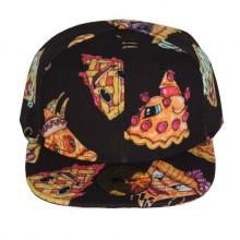3D-Pizza-Digital-Druck-Kappe-beiläufige Art- und Weisekappen