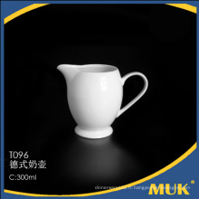 Eurohome factory wholesale porcelaine blanche vaisselle bateaux à lait