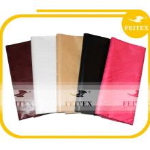 Surtidor de China Africana Bazin bordado Brocade tela Hilados de algodón Kid ropa Stock lote compradores