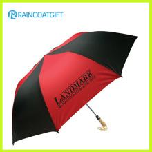 Manual / auto abierto paraguas de golf promocional a prueba de viento