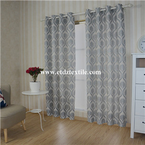European Prefer Linen Like Jacquard Window Curtain WZQ172 Grey