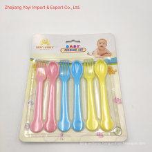 6PC Baby Feeding Set, Children′s Small Spoons, Plastic Spoons