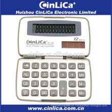 JS-12H promocional mini calculadora de bolsillo blanco y gris