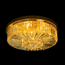 China Cheap price for Crystal Ceiling Light Traditional round crystal chandelier ceiling lamp supply to Portugal Suppliers