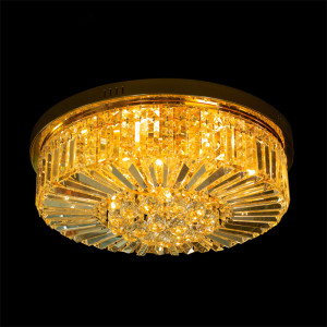 Traditional round crystal chandelier ceiling lamp