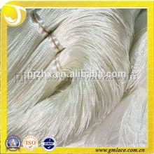 100% poliéster FDY alfombra blanca hilado de hilo, alfombra y cortina borla