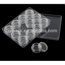 3g 5g 10g caja transparente caja cosmética crema tarro 12pcs establece kit de viaje tarro crema botellas de uñas