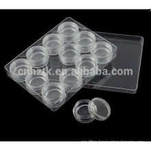3g 5g 10g jewelry transparent box cosmetic cream jar 12pcs sets travel kit cream jar Nail bottles