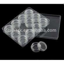 3g 5g 10g jóias transparente caixa de creme cosmético jar 12 pcs conjuntos kit de viagem creme de jarro garrafas de Unhas