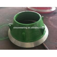 High Mangan Casting Stahl Kegel Brecher Ersatzteile Mn13Cr2 Mn18Cr2 Schüssel Liner und Mantel