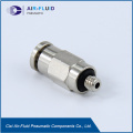 POC Hex-holed Straight One Touch Zinc Brass Pneumatic Tube Fittings