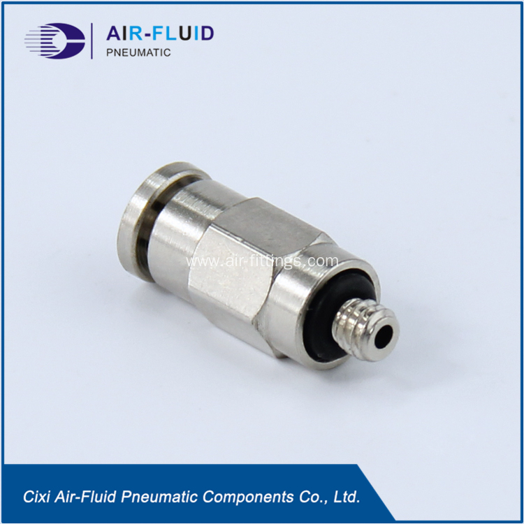 China air fluid male straight connector push in fitting