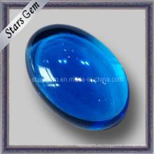 Natural Suizo Topacio Azul Ovalado Cabochon Semi Precioso