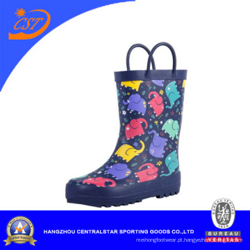 Crianças na moda bota de chuva de borracha com padrões de elefante (66982)