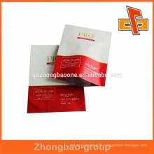 OEM custom printing Aluminum foil bag/3 side heat seal packging facial mask bag in china