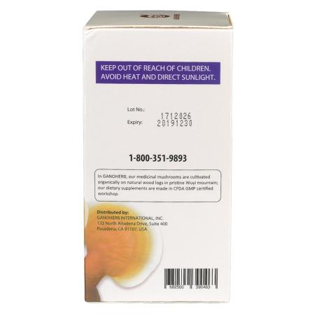 Organic Ganoderma Extra Capsule with Reishi Mushroom Lingzhi Extract