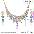 S-7 Xuping 2016 Latest Design Popular Fashion African Beads Jewelry Set
