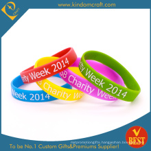 2015 Custom Coloring Silicone Bracelet for Promotion (KD-1817)