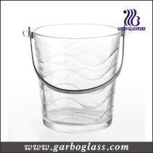 Waving Pattern Crystal High White Glass Ice Bucket (GB1902B)