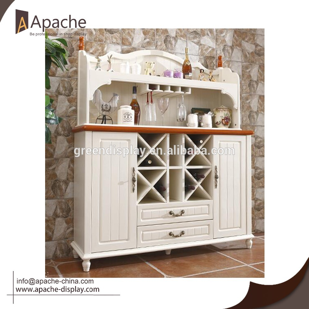 Wooden Dining Room Sideboard Cabinet Furniture with Wine Rack