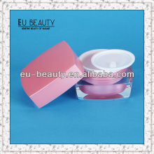 Square shaped clear acrylic jars cosmetic 15g