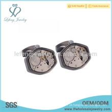 Venda quente abotoaduras de cobre antigo, cufflink relógio por atacado, cufflink handmade