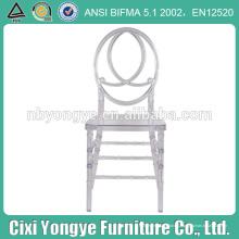 Прозрачный смоляной стул феникс с крестообразной спинкой