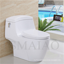 Sanitary Wares Bathroom Single Flush One-Piece Siphonic Ceramic Toilet (8110)