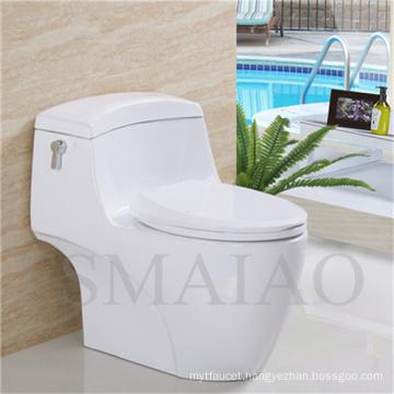 Sanitary Wares Bathroom Single Flush One-Piece Siphonic Ceramic Toilet (8110)