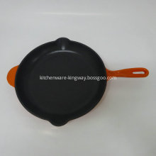 matt black enamel Cast Iron Skillet